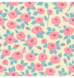 Seamless pattern of roses vector image