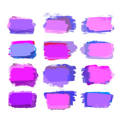 violet and pink brush strokes vector image vector image
