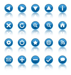 Web navigation icons isolaten on white background vector image