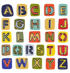 Alphabet sketchbook vector image