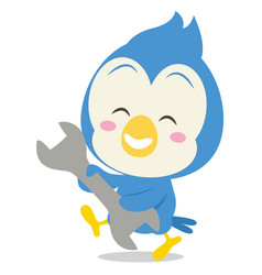 blue jay with tool character vector image