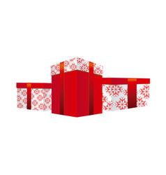 set collection box gifts christmas vector image