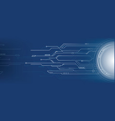abstract futuristic technology on blue background vector image