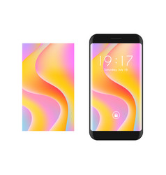 abstract smartphone with colorful screen vector image