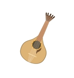 Acoustic Guitar Portuguese Famous Symbol vector image