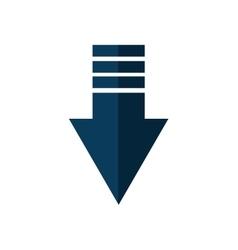 arrow direction web silhouette icon vector image