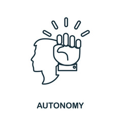 Autonomy icon simple element from business vector