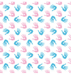 baby palm print seamless pattern vector image