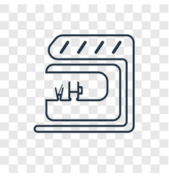 bar concept linear icon isolated on transparent vector image