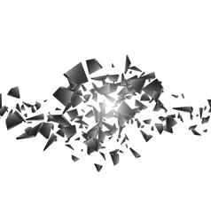 Black explosion on white background vector