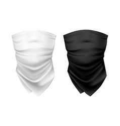 blank wear for neck or set realistic shawl vector image