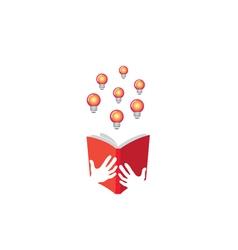 Book Ideas Lamp Design vector image