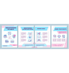 Breastfeeding in public brochure template vector