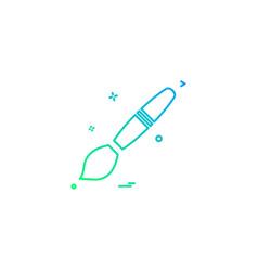 brush design graphic paint icon design vector image