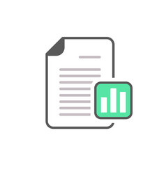 Business document file graph page stats icon vector