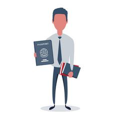 Businessman or clerk male character in trendy vector