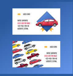 Car business card rental van auto vehicle minivan vector