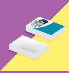 card doctor cartoon mockup design vector image