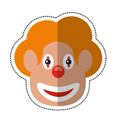 Cartoon face clown april fool day vector