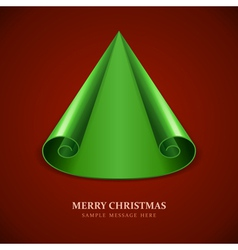 Christmas tree from scroll paper vector