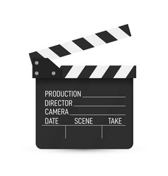 clapper board movie clapper isolated vector image