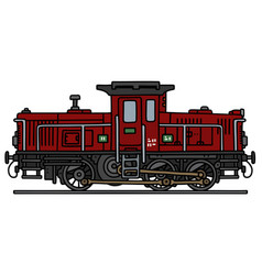 Classic small diesel locomotive vector
