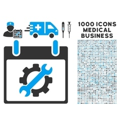 Configuration Tools Calendar Day Icon With 1000 vector