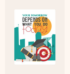 depends wthat you do banner vector image