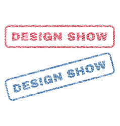 Design show textile stamps vector
