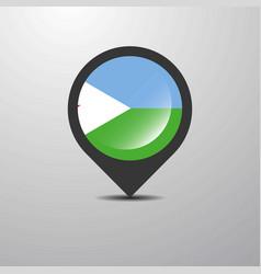 djibouti map pin vector image