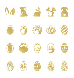 easter retro typographic objects set vector image