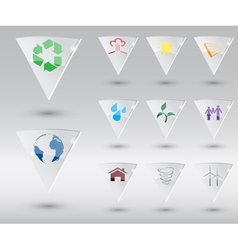 eco icons 2 vector image