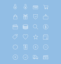 Ecommerce-line-icons vector