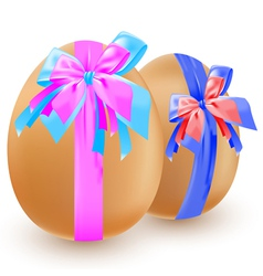 eggs and bow vector image