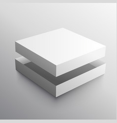 empty box realistic design mock-up vector image