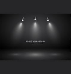 empty gray studio abstract background vector image