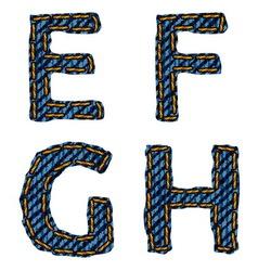 Farmerke tekstura EFGH resize vector image