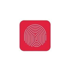 Fingerprint icon round shaped finger print vector