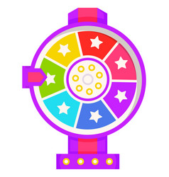 fortune wheel with pointer casino gambling icon vector image