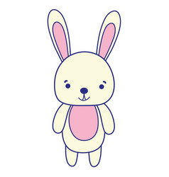 Full color cute and happy rabbit wild animal vector