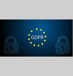gdpr concept general data protection vector image