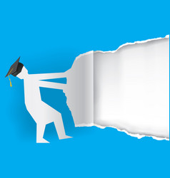graduation torn paper background vector image