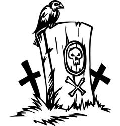 Grave - halloween set vector