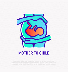 Hiv is transmitted from mother to child vector