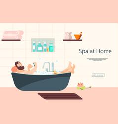 Home spa website vector