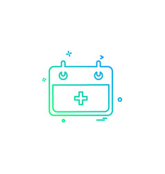 hospital calender date day icon design vector image