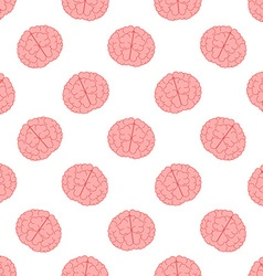 Human brain seamless pattern vector