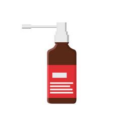 inhaler glass bottle closeup vector image