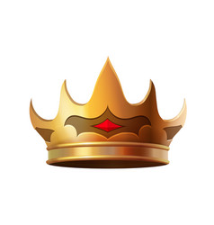 isolated gold crown realistic icon vector image