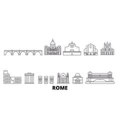 Italy rome line travel skyline set italy rome vector